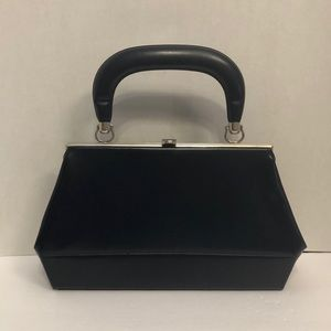 Vintage Matte Box Handbag Clutch Bag Top Handle